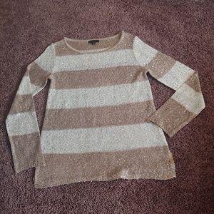 Willi Smith tan & cream sequins sweater